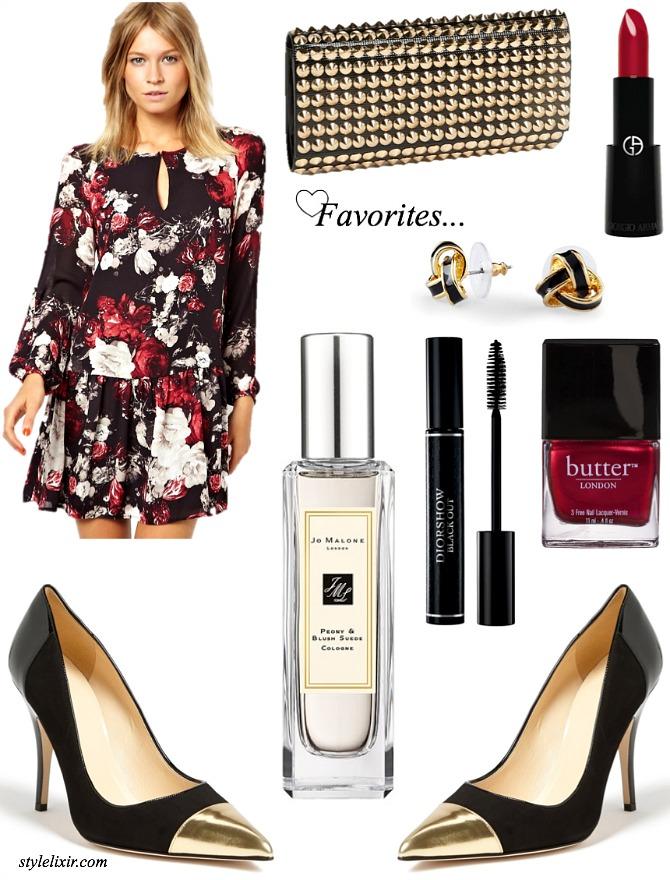 August Fab Favorites ASOS Kate Spade Butter London Giorgio Armani Stud Clutch Dior Mascara Jo Malone Peonies Perfume