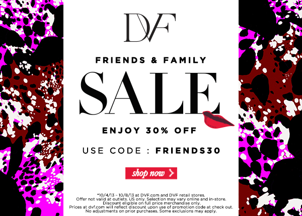 Diane von Furstenberg DVF Sale