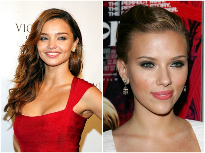 Miranda Kerr and Scarlett Johansson Beauty Secrets Fashion Style Blog Celebrity Makeup Tricks Beautiful Hollywood Blog Style Elixir www.stylelixir.com