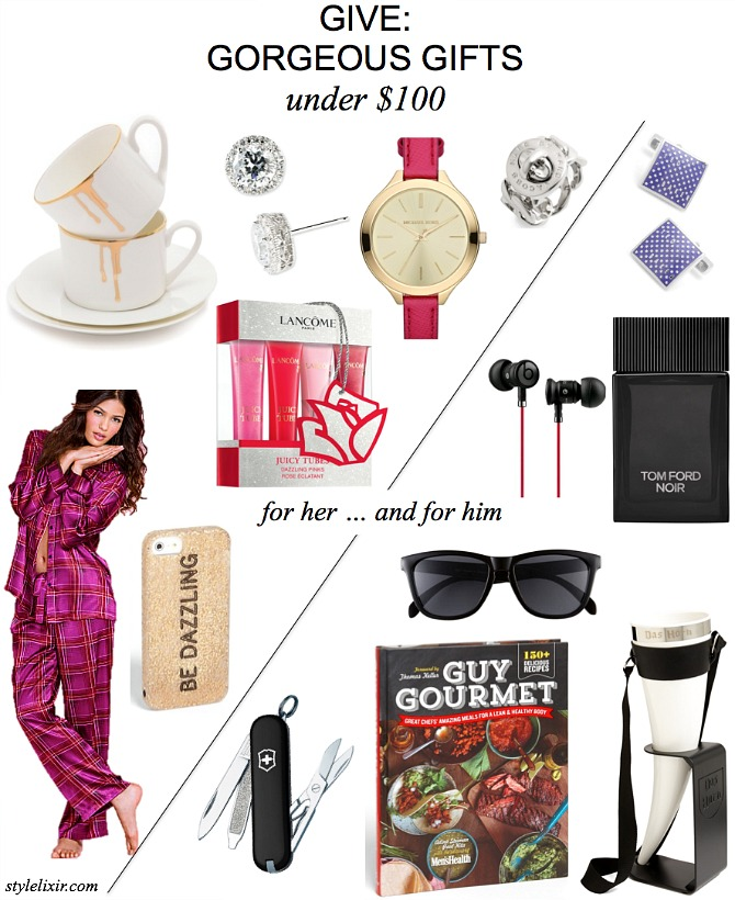 Give Gorgeous Gifts Ideas Under $100 Her Him Sister Firned Mom Dad Brother Guy Boyfriend Christmas Present Shop Cheap Budget Style Elixir www.stylelixir.com Blog Fashion