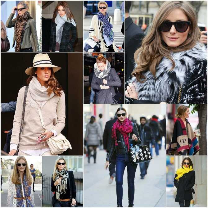 Celebrity Scarf How to wear a scarf olivia palermo style jessica alba scarf kate moss scarf lauren conrad style fashion
