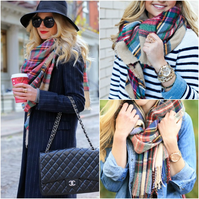 Zara Plaid blanket scarf blair eadie atlantic pacific how to wear plaid scarf fashion blogger style elixir www.stylelixir.com perfect winter outfit