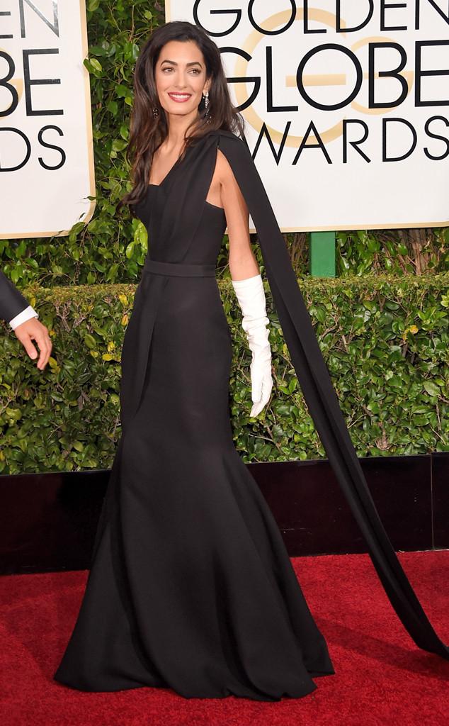 Amal Clooney golden globes best dressed 2015