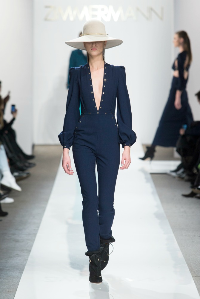 Zimmermann Fall 2015 collection new york fashion week show NYFW long pink coat style elixir fashion blog