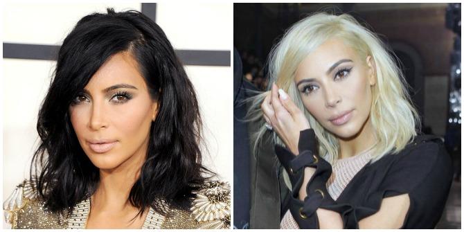 Kim Kardashian Platinum hair 2015