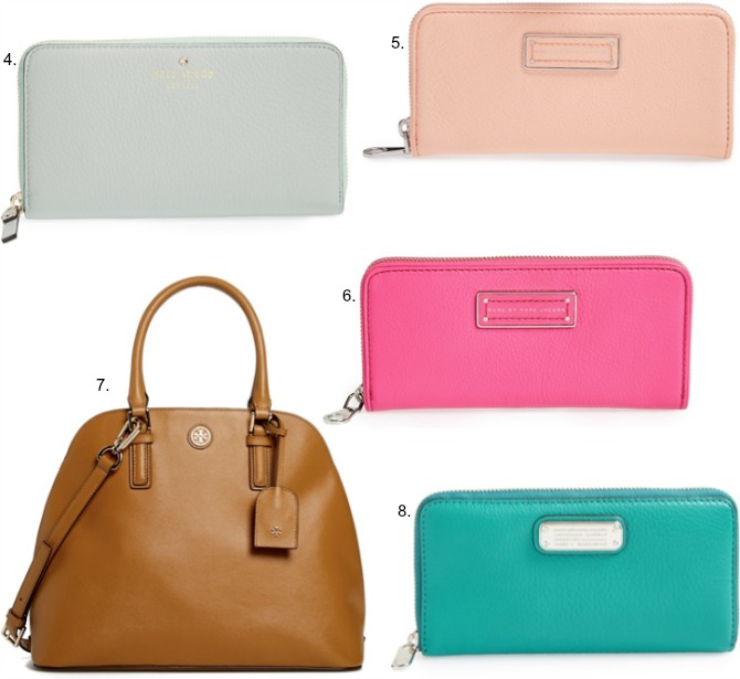 half yearly Nordstrom sale marc jacobs kate spade wallets tory burch dome handbag sale