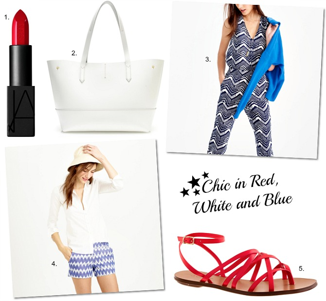 Fourth of July Fashion red white and blue stars what to wear