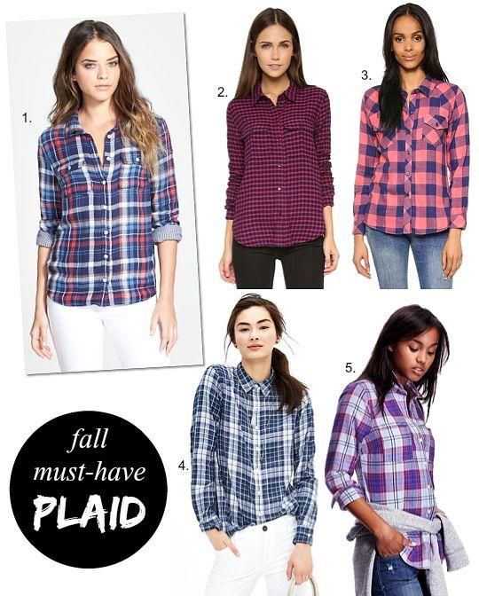 best plaid shirts fall fashion