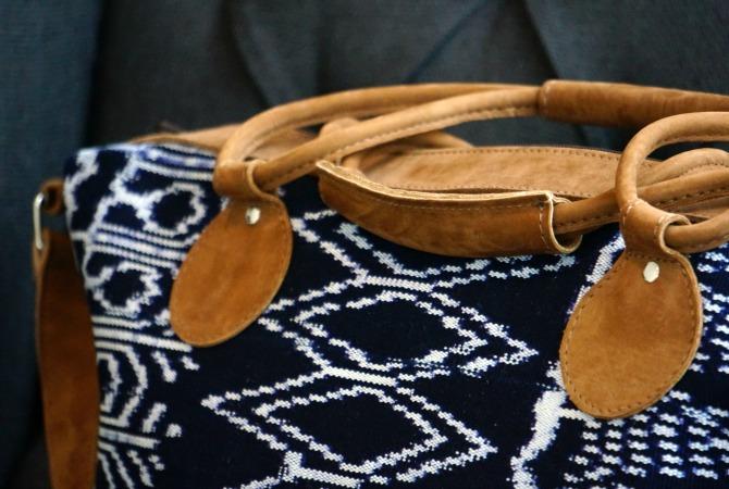 Ikat weekender bag global goods partners artisan maya traditions fair trade goods usa