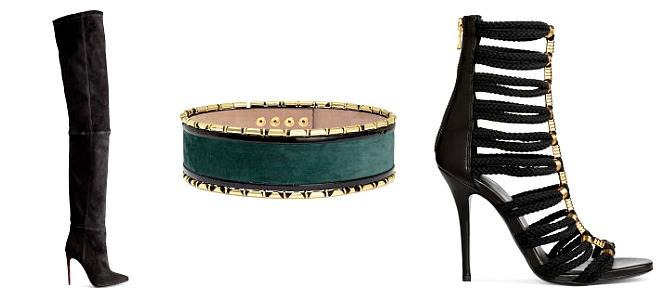 Balmain X H&M Preview - Suede Thigh High Boots, $349    |   Suede Waist Belt, $99    |    Sandal Boots, $199