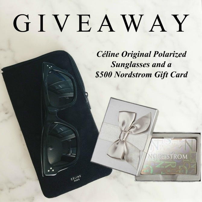 Celine Original Sunglasses and Nordstrom Giveaway win blogger giveaway prize