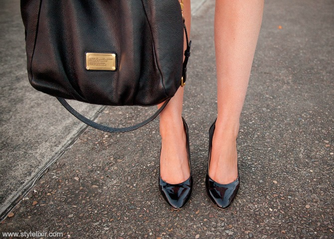 How to have classic style black blazer prada cats eye sunglasses patent heels marc jacobs fran bag lauren slade style elixir blog new york blogger www.stylelixir.com