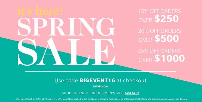 shopbop sale coupon code promo code shopbop