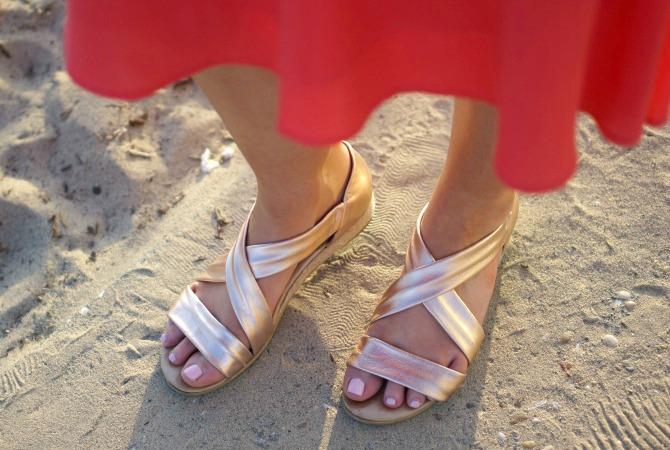 1 wayf blouson midi dress coral los angeles blogger lauren slade santa monica sunset style elixir fashion blog