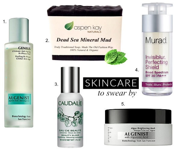 amazing skincare products to swear by beauty blogger style elixir beauty review murad dead sea soap algenist caudalie best products