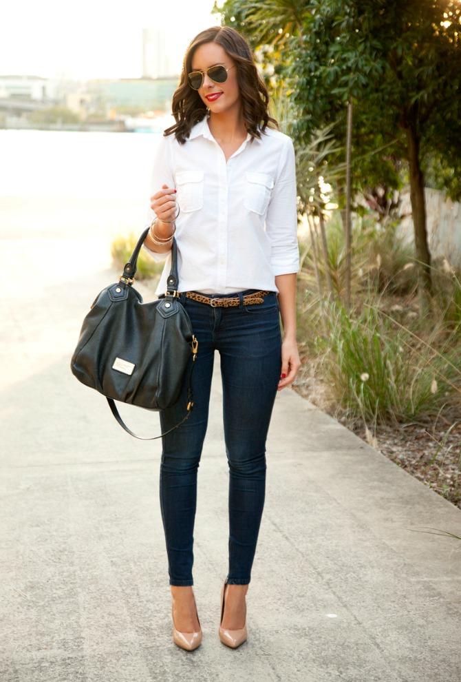 perfect denim skinny jeans j brand shopbop sale coupon promo code style elixir lauren slade classic white shirt