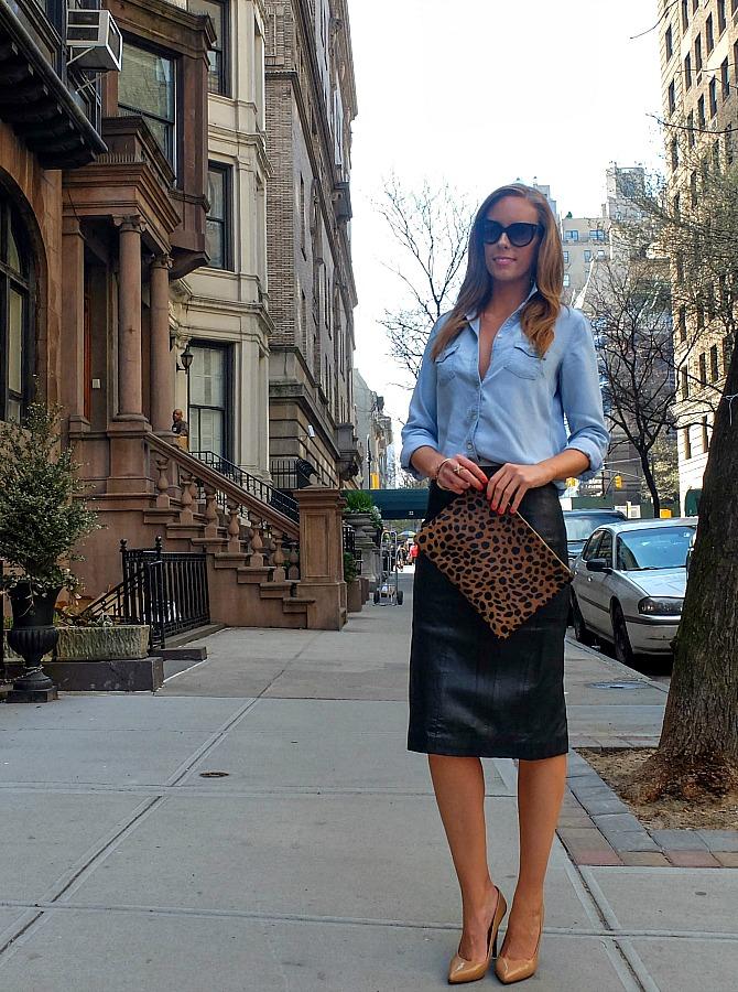 clare vivier leopard clutch bag shopbop sale promo code lauren slade new york fashion blogger