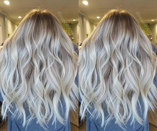 ombre blonde balayage hair color ash blonde golden blonde icy highlights beach mermaid hair ideas