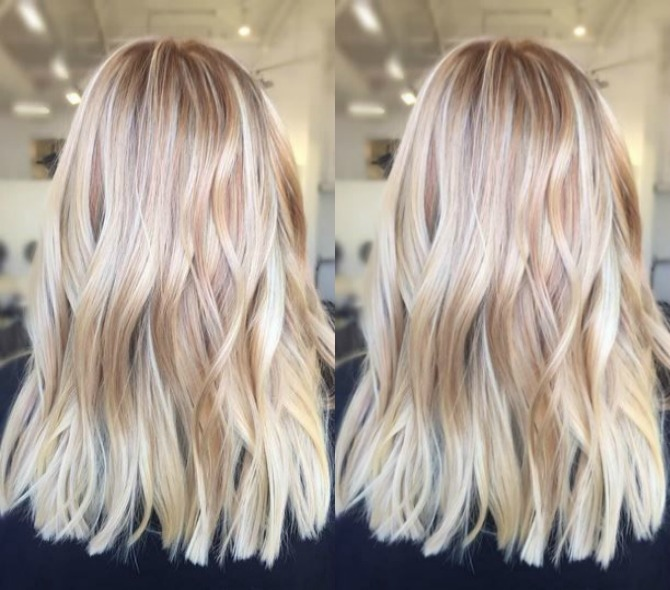 bright blonde balayage hair color ash blonde golden blonde icy highlights beach mermaid hair ideas