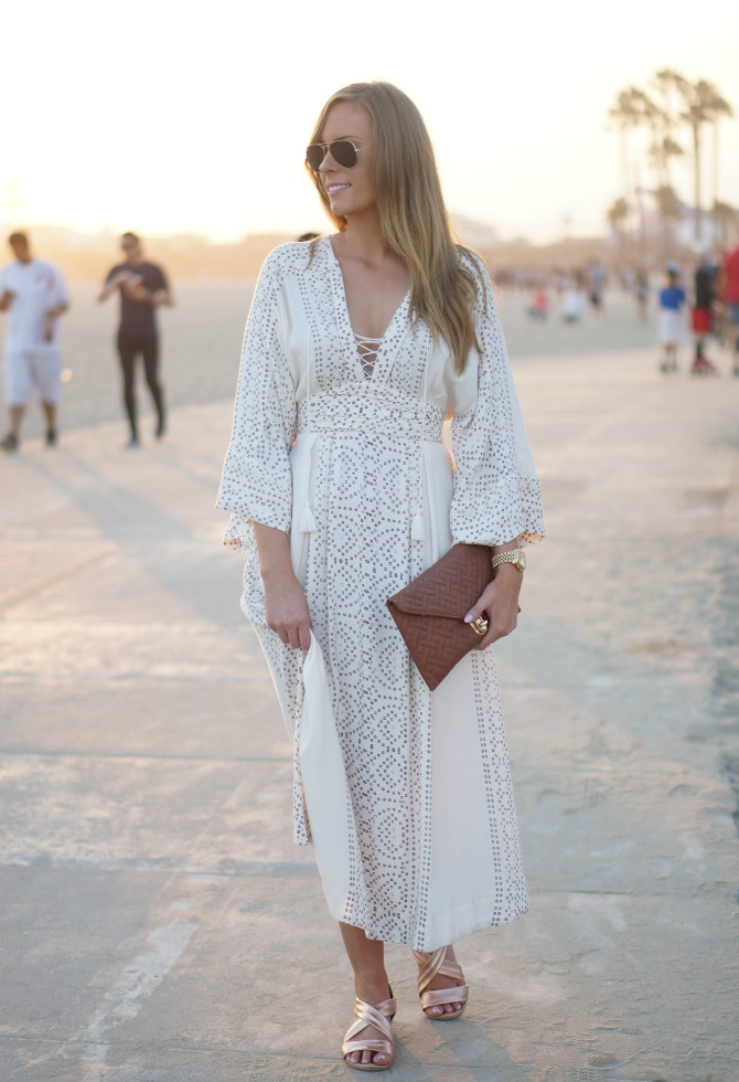 free people boho maxi dress santa monica beach los angeles style
