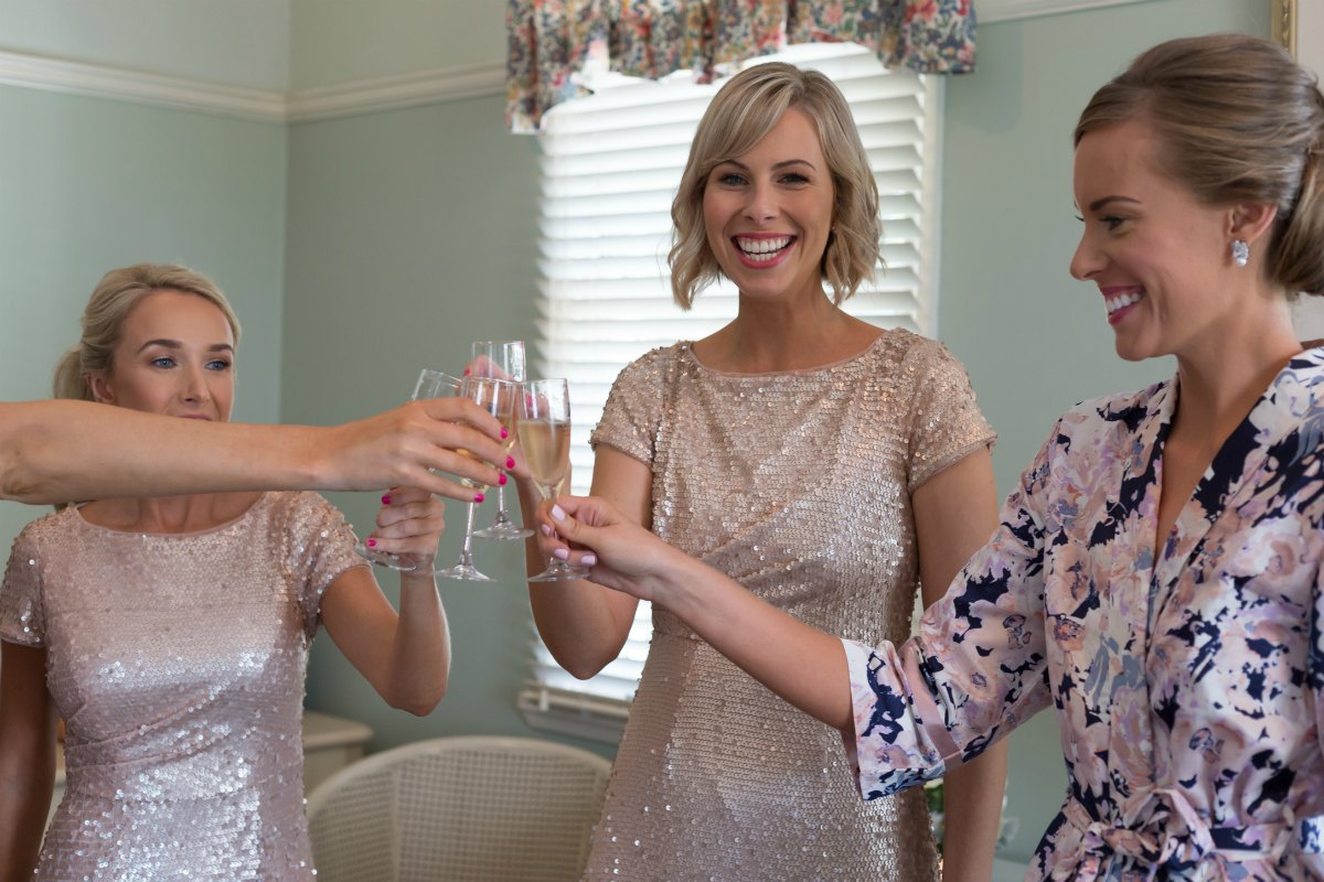 papinelle floral bridesmaid robes champagne bridesmaids gold sequin dress