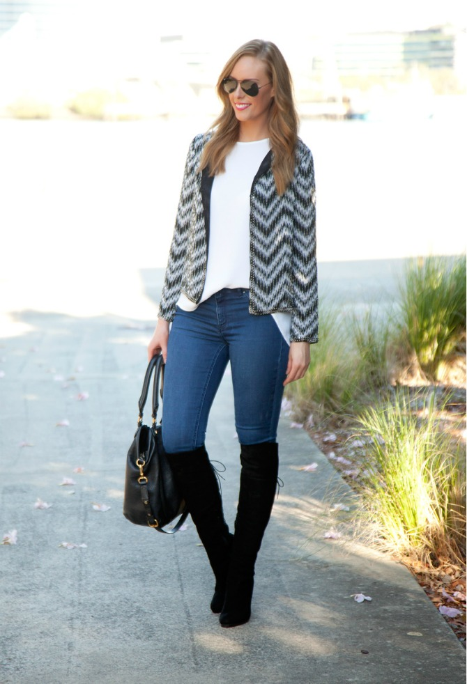 Stuart Weitzman over the knee boots top fall fashion trends