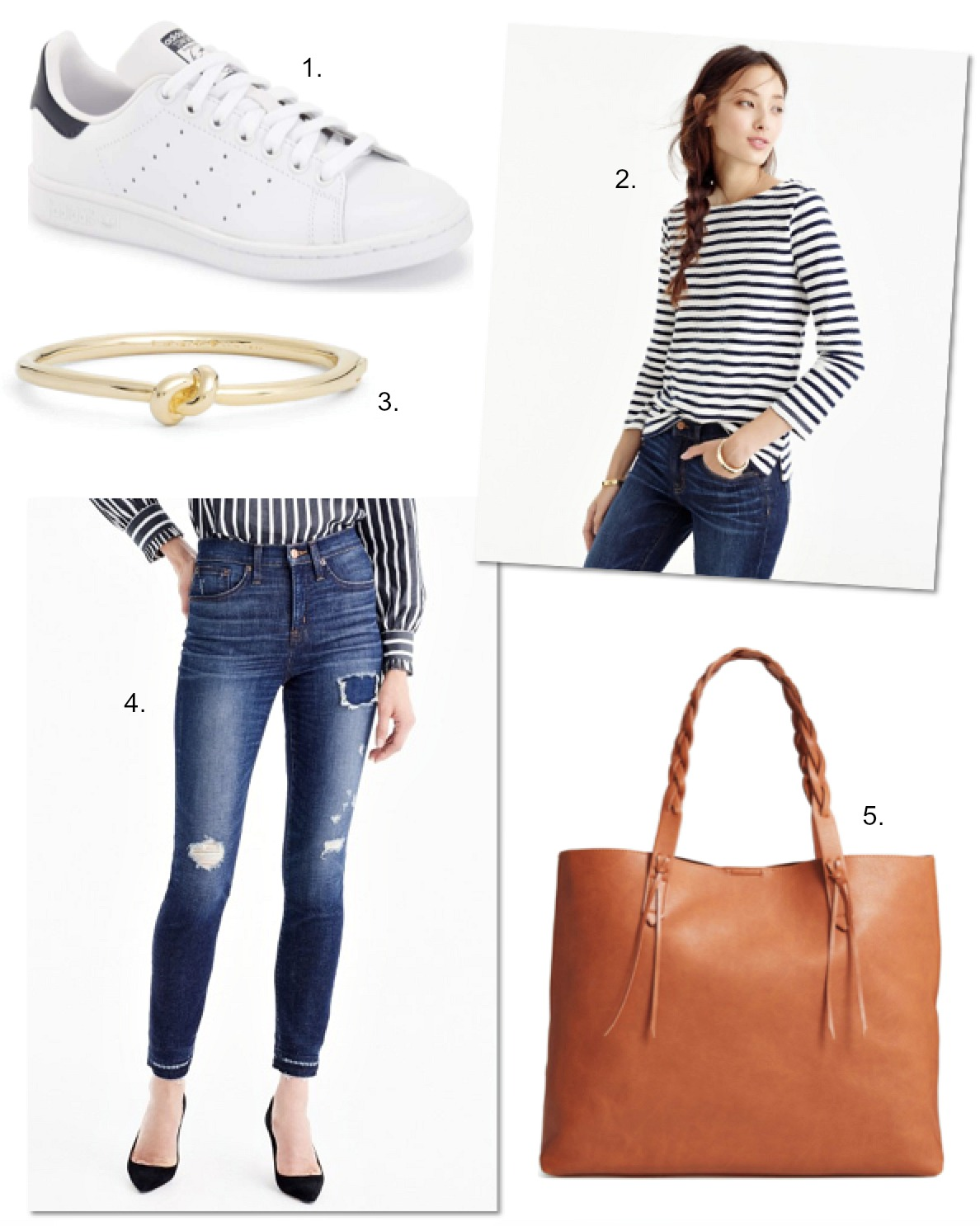 nautical outfit ideas stan smith sale stripe top j crew jeans