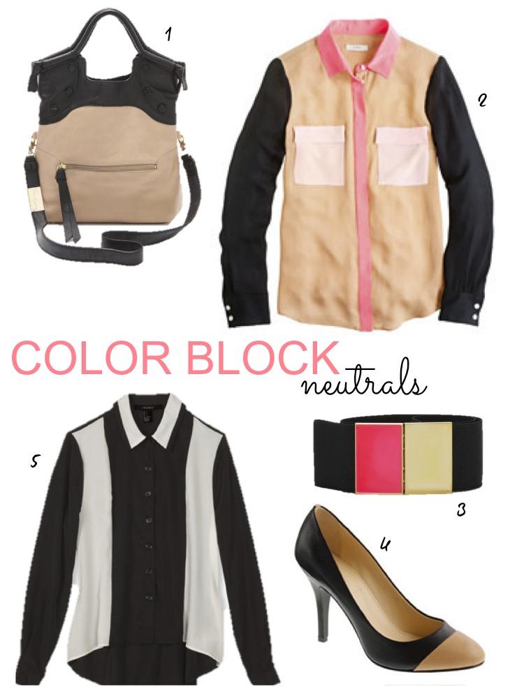 Color Block Neutrals Upload 2 Coolest Kid On The [Color] Block