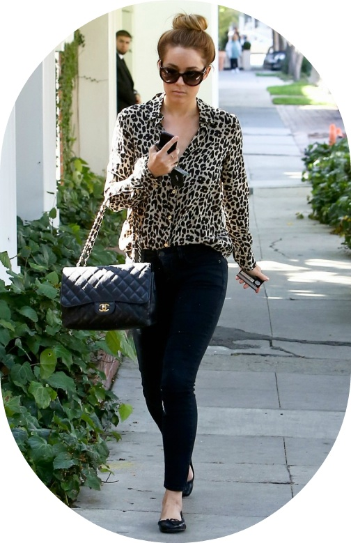 Lauren Conrad Celebrity Star Style Leopard Print Chanel Jeans Steal Her Style: Lauren Conrad