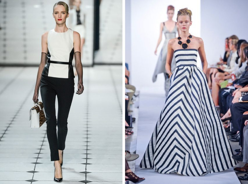 Monochrome Black and White Spring Summer Trend 2013 New Season Trend: Black and White