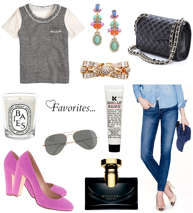 Favorite-New-Clothes-JCrew-Bauble-Bar-Diptyque-Kiehls-Bvlgari-Ray-Ban