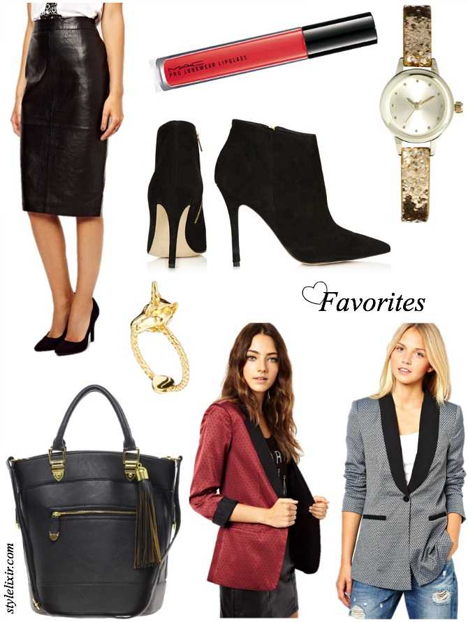 FFF September 20 Affordable fashion Favorites Style Love Trends Leather MAC Blazers Handbags Booties Glitter Watch Unicorn Ring