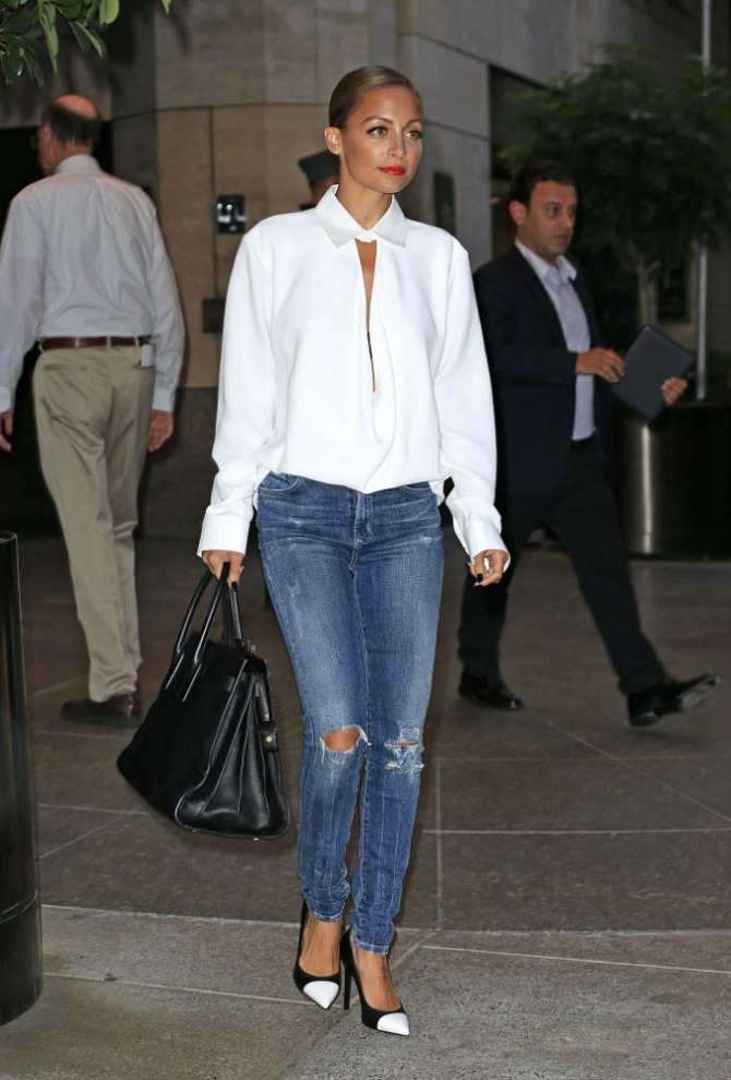 Nicole Richie Outfit Favorite Style Fashion Balenciaga Saint Laurent