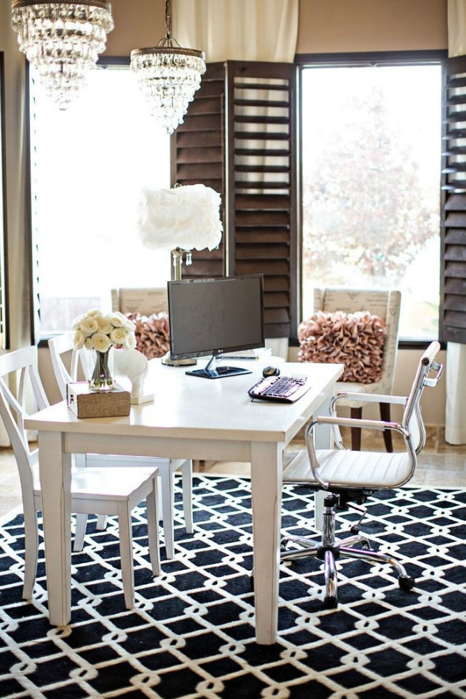 Home office archives style elixir for Chic office ideas