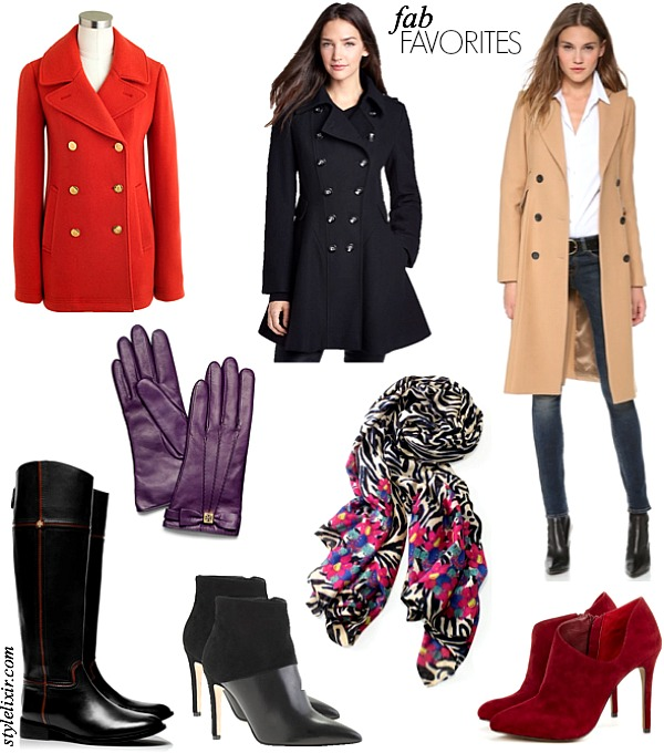 SS OCT 11 Fall trends booties ankle boots red coat tory burch zebra scarf stella and dot shopbop fall trends 2013