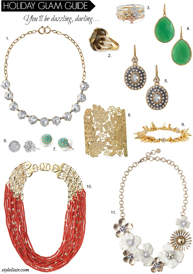 Holiday Jewelry Statement Gift Guide Stella and Dot Favorites Fashion Style Elixir www.stylelixir.com Blog Christmas Holidays