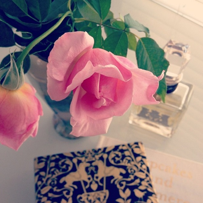 Roses Flowers Pretty Cupcakes and Cashmere Book Juicy Couture Perfume Style Elixir Blog www.stylelixir