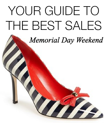 Memorial Day Weekend Sales Guide 2014 Kate spade Tory Burch Micharl Kors Marc Jacobs Coach Rebecca Minkoff Fashion Style Elixir Blog www.stylelixir.com Blogger Lifestyle Beauty Discount Coupon codes shoes handbags jewelry purses watches designer