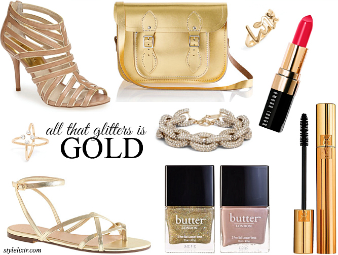 currently covet - all that glitters is gold fashion style jcrew michael kors babuble bar ysl butter london style elixir fashion blogger www.stylelixir.com lifestyle beauty must have shop sale discount code