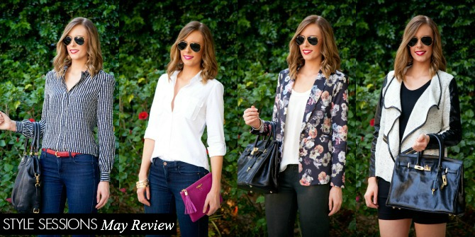 Style Sessions Fashion Link Up Four Looks Vote For Your Favorite Style Blogger Style Elixir www.stylelixir.com Fashion Lifestyle Blogger Trends Summer 2014 Ray Ban Tory Burch J Brand Floral White Keds Gigi New York Birkin Style Bag Marc Jacobs