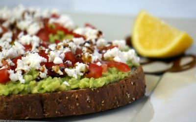 The Perfect Healthy Snack – Avocado, Tomato and Goats Cheese on Toast