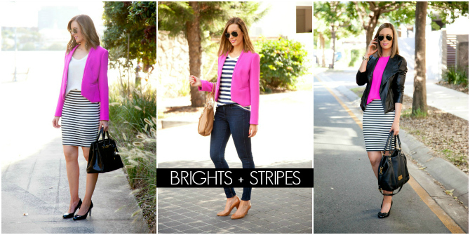 Brights and Stripes Fashion style blogger www.stylelixir.com blog