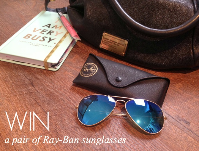 win ray-ban aviator blue mirrored sunglasses style fashion blogger www.stylelixir.com blog
