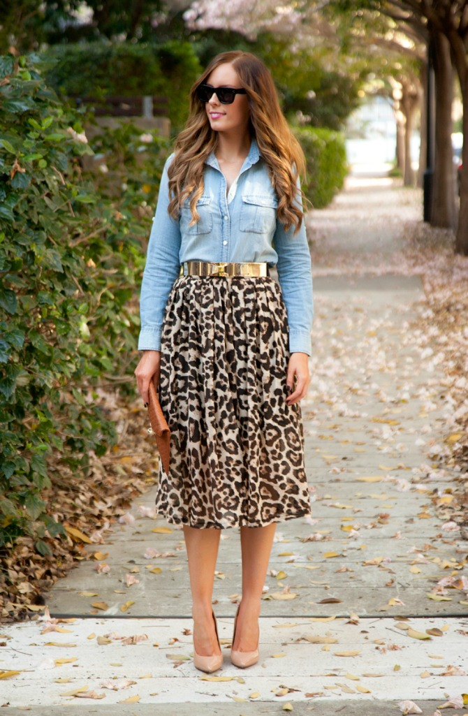 21 Style Sessions Fashion Link Up: Leopard and Chambray