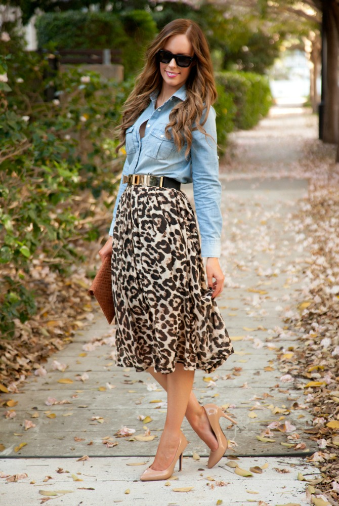 61 Style Sessions Fashion Link Up: Leopard and Chambray