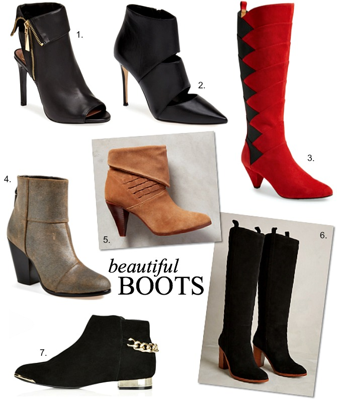 Beautiful Fall WInter Boots Topshop Black Tan Brown Red Boots Booties Fashion style elixir www.stylelixir.com blog trends blogger