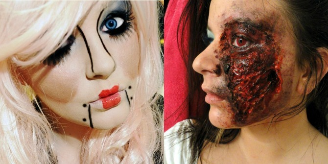 Best Halloween Makeup Ideas Puppet Doll Flesh Wound