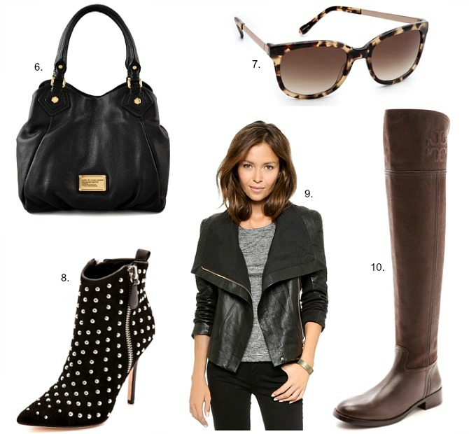 Shopbop sale discount coupon code marc jacobs kate spade sale leather jacket ray-ban aviator sunglasses leopard booties tory burch boots fashion style elixir blog www.stylelixir.com fashion blogger