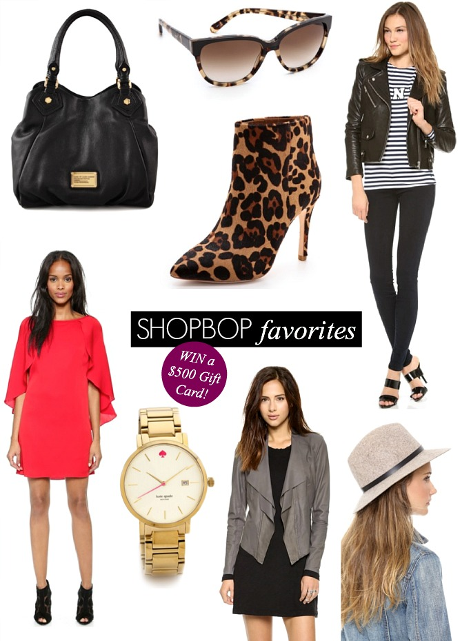 Shopbop Giveaway Win a $500 gift card fashion blogger style elixir www.stylelixir.com blog
