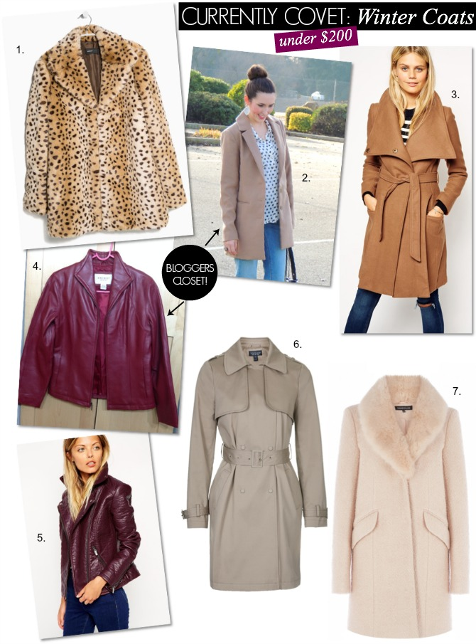 Winter Coats Fashion style ASOS Topshop trench coat leopard coat leather jacket bloggers closet style elixir www.stylelixir.com fashion blog blogger